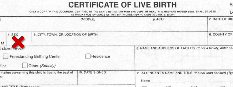 Room For Debate: For Starters, 'Unsex' the Birth Certificate